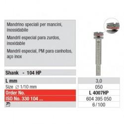 4007HP L Mandril Zurdos a Rosca 303/050 Pieza de mano 100 uni