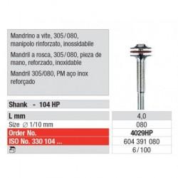4029HP Mandril a Rosca 305/080 Reforzado Pieza de mano 100 unid