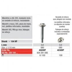 4020HP Mandril a Rosca 305 Pieza de Mano Reforzado 100 unid
