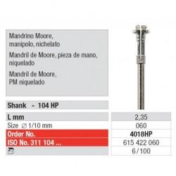 4018HP Mandril Moore P.M. Niquelado 100 unid