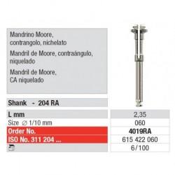 4019RA Mandril Moore Contra-Ángulo Niquelado 6 unid