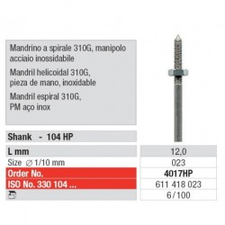 4017HP Mandril Para cilindros Helicoidal 310G 100 unid