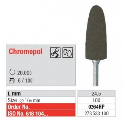 0264HP Pulidor Grano Grueso Para Cr-Co Choromopol 6 unid