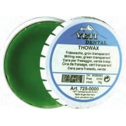 Cera Para el Fresado Yeti Verde Transparente Thowax