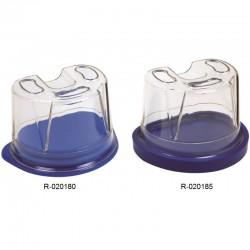 Mufla Para Duplicar de Plástico Con Tapa Lisa de Goma R020185