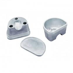 Mufla para Duplicar Grande con Tapa Lisa de Aluminio R020150
