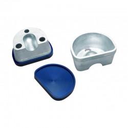 Mufla para Duplicar Grande con Tapa Lisa de Goma R020151