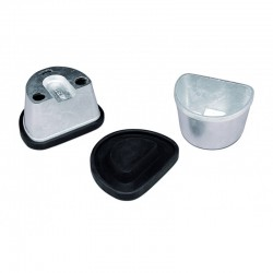 Mufla para Duplicar Pequeña con Tapa de Goma R020160