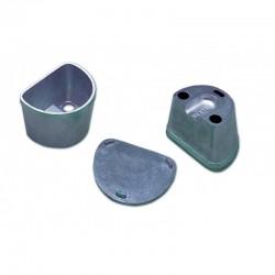 Mufla para Duplicar Pequeña con Tapa Lisa de Aluminio R020170