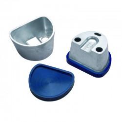 Mufla para Duplicar Pequeña con Tapa Lisa de Goma R020171