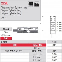 Fresa Para Implantes 229L.205.040 1 unid