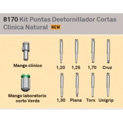 Kit Destornillador Mango Corto + Mango Clinico +6 Puntas Emexact