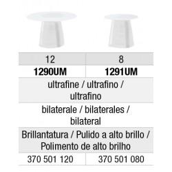 1280UM Discos de Pulido de Composite Flexi-Snap Grano Fino edenta 50 unid