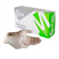 Guantes de latex sin polvo (100u.) - Luna