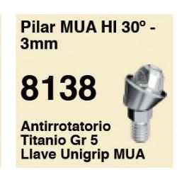 PILAR MULTI-UNIC HI 30º- 3 MM ANTIROTARORIO TITANIO