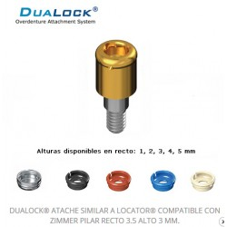 DUALOCK® ATACHE SIMILAR A LOCATOR® COMPATIBLE CON ZIMMER PILAR RECTO 3.5 ALTO 2 MM.