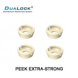 DUALOCK® REPOSICION BOTON RETENCION BLANCO EN PEEK XSTRONG RETENCION 2,5 KILOS (NO COMPATIBLE CON LOCATOR ORIGINAL)