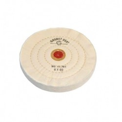 DISCO GROBET ALGODON BLANCO 150 MM. DIAM 60 HOJAS (17.761)