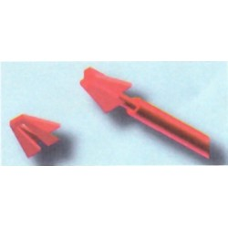 Anclajes Plástico Calcinable Flecha 10 unid
