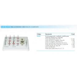 Kit fresas Para Anteriores En Composite Directos DR.VANINI