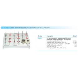 Kit fresas Para Posteriores En Composite Directos e Indirectos