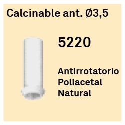 Calcinable Ant. Héxagono Externo Ø 3.5