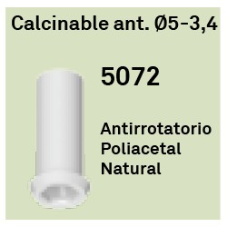 Calcinable Ant. Héxagono Externo Ø 5-3.4