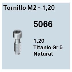 Tornillo M2 - 1.20 Héxagono Externo