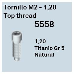 Tornillo M2 - 1.20 Top Thread Héxagono Externo