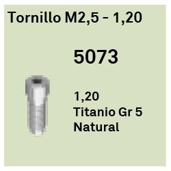 Tornillo M2.5 - 1.20 Héxagono Externo