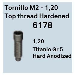 Tornillo M2 - 1.20 Top Thread Ha Héxagono Externo