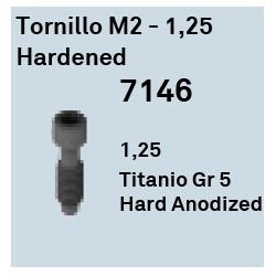 Tornillo M2 - 1.25 Hardened Héxagono Externo