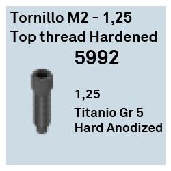 Tornillo M2 - 1.25 Top Thread Ha Héxagono Externo