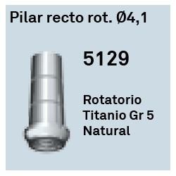 Pilar Recto Rot. Ø 4.1 Héxagono Externo
