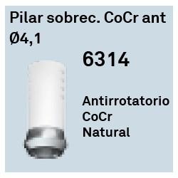 Pilar Sobrecolable CoCr Ant Ø 4.1 Héxagono Externo