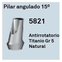 Pilar Angulado 15º Héxagono Externo