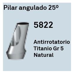 Pilar Angulado 25º Héxagono Externo