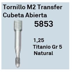 Tornillo M2 Transfer Cubeta Abie Hexágono Externo