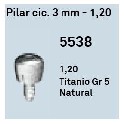 Pilar Cic. 3 mm - 1.20 Hexágono Externo