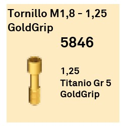 Tornillo M1,8 - 1,25 GoldGrip Hexágono Interno