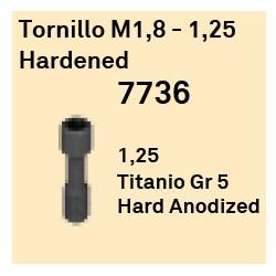 Tornillo M1,8 - 1,25 Hardened Hexágono Interno