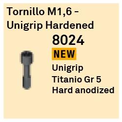 Tornillo M1.6 - Unigrip Hardened Héxagono Externo