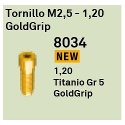 Tornillo M2.5 - 1.20 GoldGrip Héxagono Externo