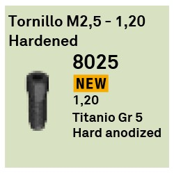Tornillo M2.5 - 1.20 Hardened Héxagono Externo