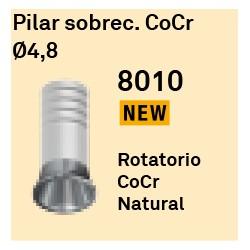 Pilar Sobrec. CoCr Ø 4.8 Cónica Externa