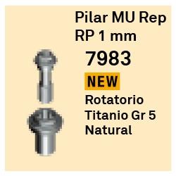 Pilar MU Rep RP - 1 mm Cónica Externa
