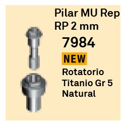 Pilar MU Rep RP - 2 mm Cónica Externa