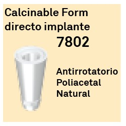 Calcinable Form Ant. Directo Implante Octógono Interno