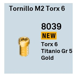 Tornillo M2 Torx GoldGrrip Octógono Interno