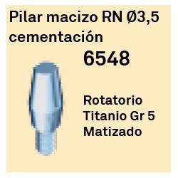 Pilar Macizo RN Ø 3.5 Cementación Octógono Interno